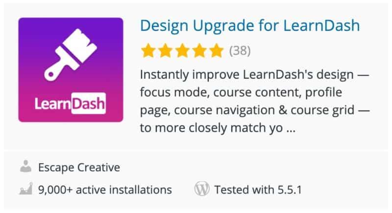 Design Upgrade for LearnDash plugin card