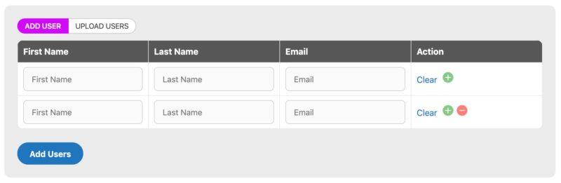 WisdmLabs Group Registration add users