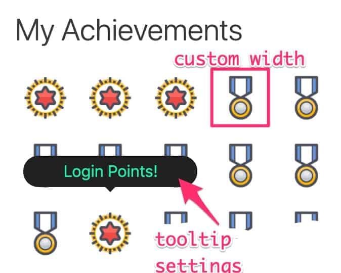 Example of My Achievements custom styles